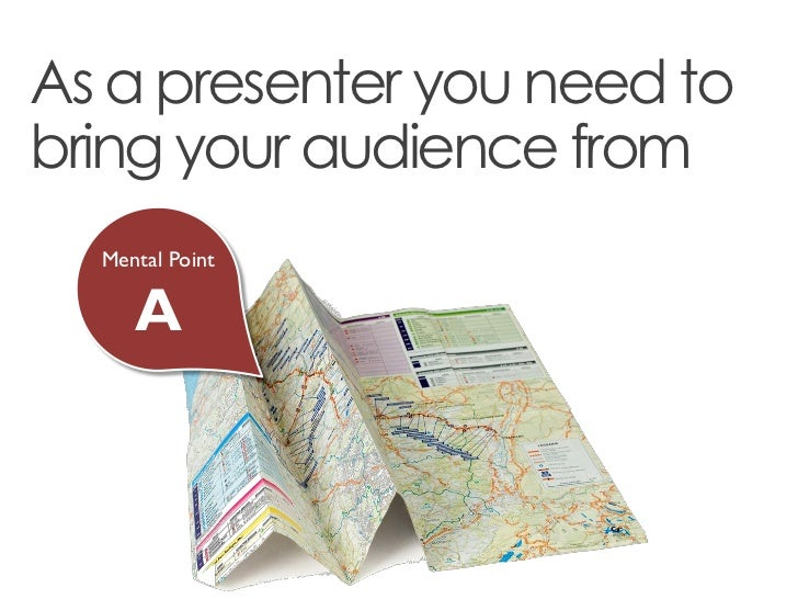 As a presenter you need tobring your audience from  Mental Point     A