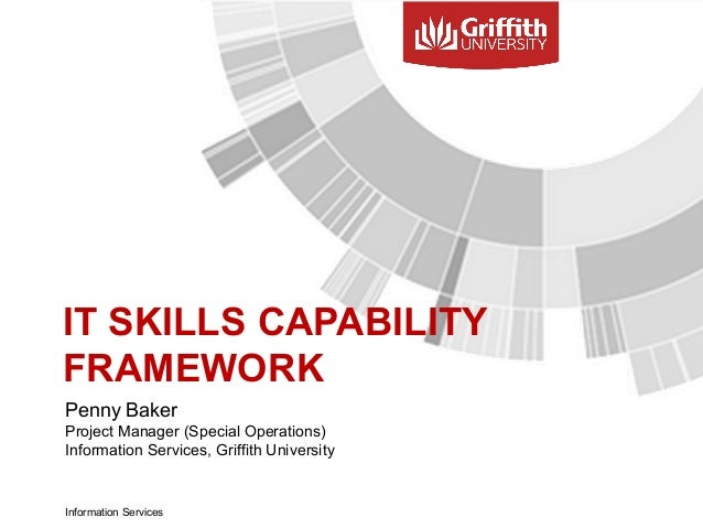 IT SKILLS CAPABILITY FRAMEWORK Penny Baker Project Manager (Special Operations) Information Services, Griffith University ...