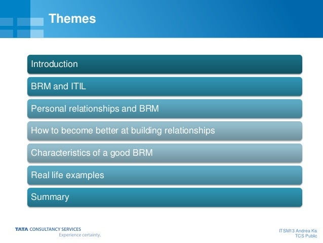 The beauty and simplicity of common sense Business Relationship Management Slide 2