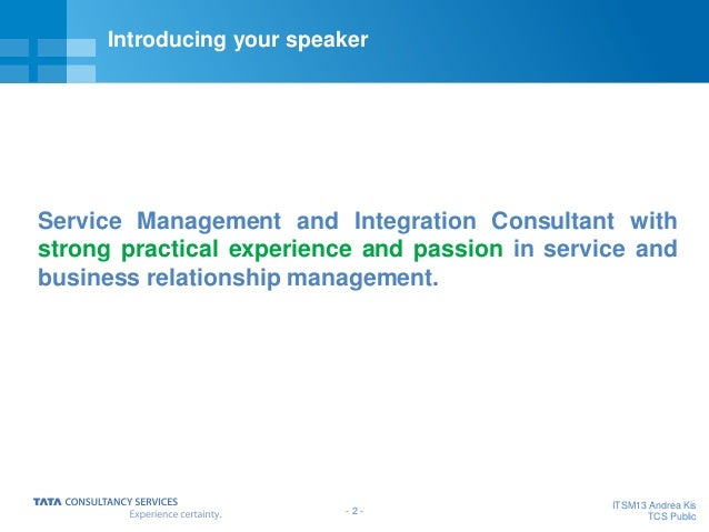 The beauty and simplicity of common sense Business Relationship Management Slide 3