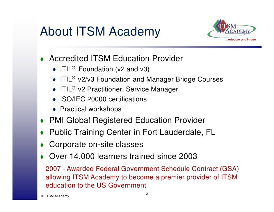 Itil V3 And Isoiec 20000 Certification Schemes