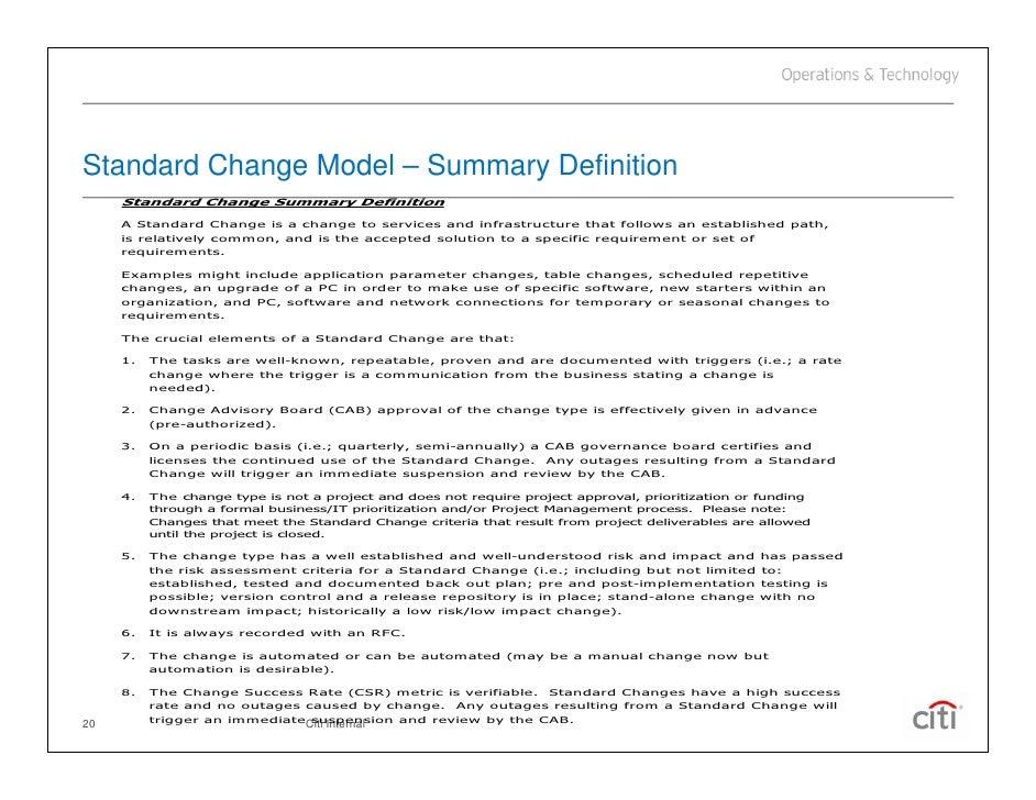 Implementing ITIL Change Management