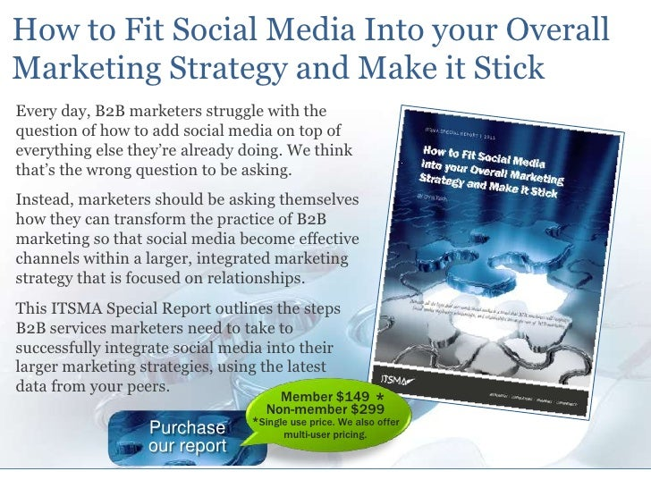 How to Fit Social Media Into your Overall Marketing Strategy and Make it Stick<br />Every day, B2B marketers struggle with...