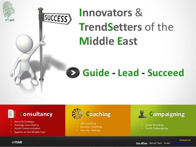 ©ITSME Innovators & TrendSetters of the Middle East Guide - Lead - Succeed Coaching • Life Coaching • Business Coaching • ...