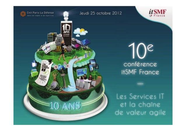 Président de filière Orateur Sponsor Administrateur itSMF 2 D'ISO 20000 à ITIL®, une démarche complémentaire Teamup Consul...