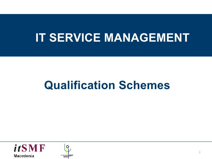 IT SERVICE MANAGEMENT Qualification Schemes
