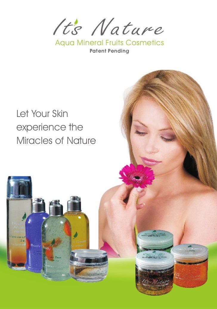 Aqua Mineral Fruits Cosmetics                 Patent PendingLet Your Skinexperience theMiracles of Nature