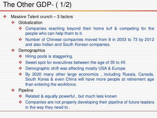 MassiveTalentcrunch–3factors  Globalization  Companiesreachingbeyondtheirhometurf&competingforthepeoplewhocanhelpthemto...