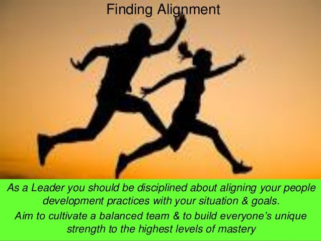 As a Leader you should be disciplined about aligning your people development practices with your situation & goals.  Aim t...
