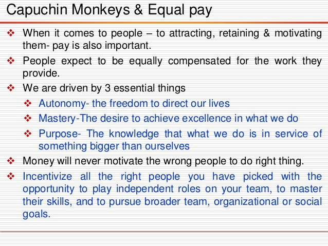 Whenitcomestopeople–toattracting,retaining&motivatingthem-payisalsoimportant.  Peopleexpecttobeequallycompensatedforthew...