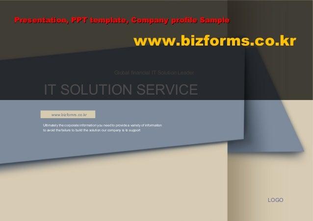 Presentation, PPT template, Company profile Sample                                                                   www.b...
