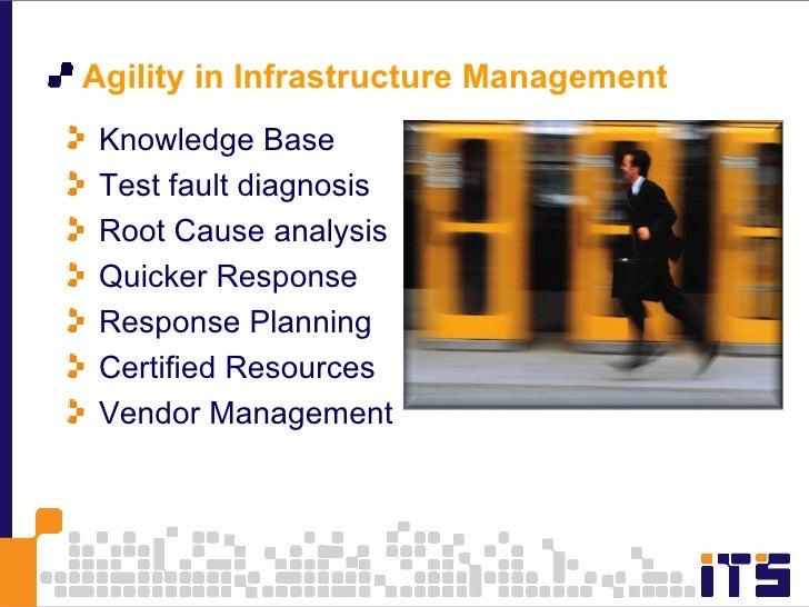 <ul><li>Agility in Infrastructure Management  </li></ul><ul><li>Knowledge Base </li></ul><ul><li>Test fault diagnosis </li...