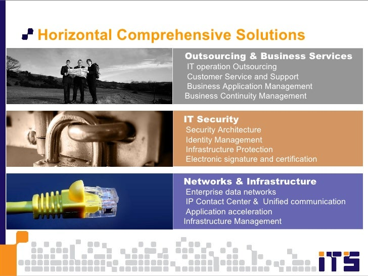 <ul><li>Horizontal Comprehensive Solutions  </li></ul>Outsourcing & Business Services IT operation Outsourcing Customer Se...