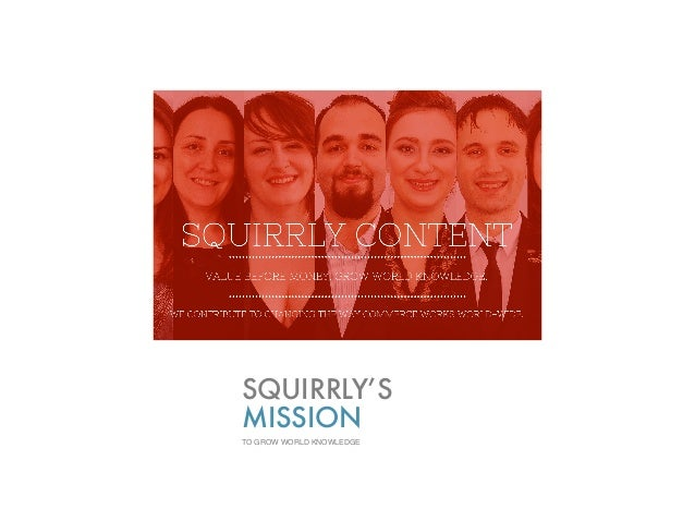 SQUIRRLY'S MISSION TO GROW WORLD KNOWLEDGE