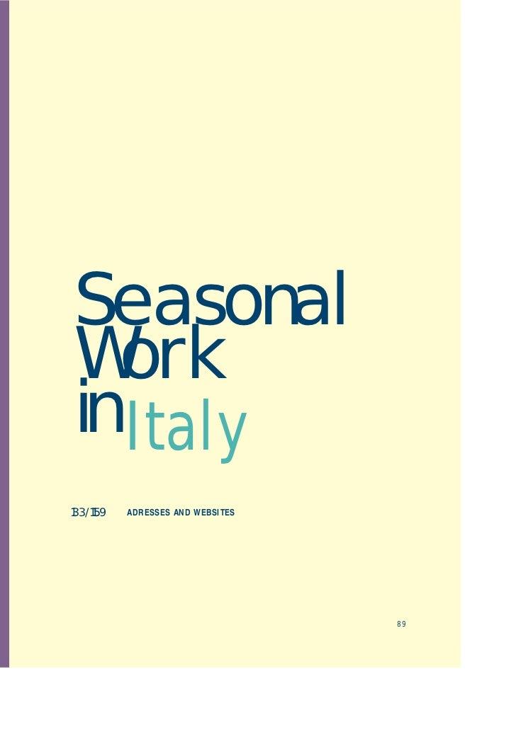 Seasonal work in Italy
