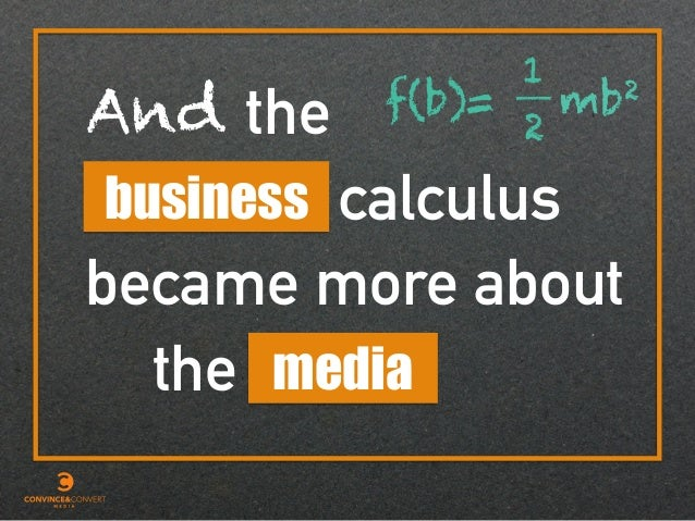 calculus the media became more about the business And f(b)= mb2 1 2