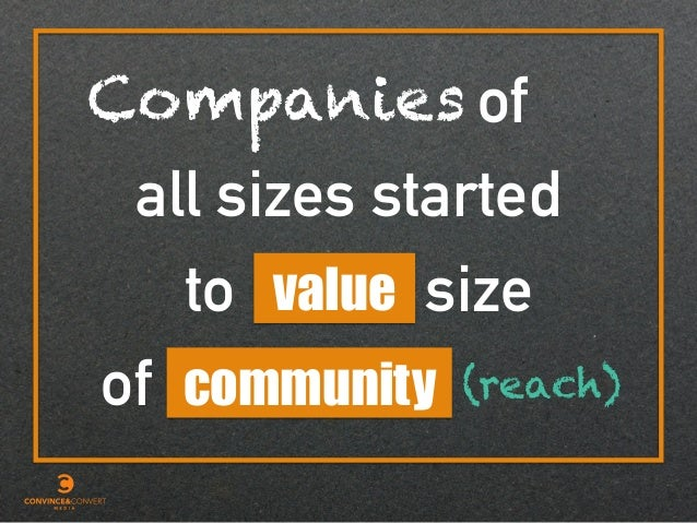 of value all sizes started size of to community Companies (reach)