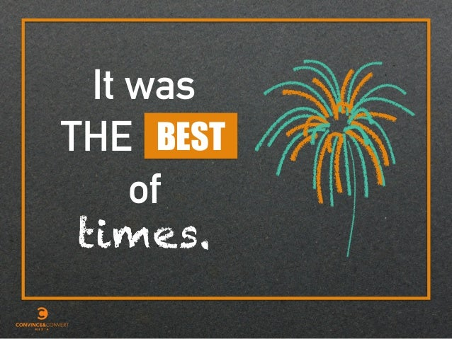 It was times. BEST of THE