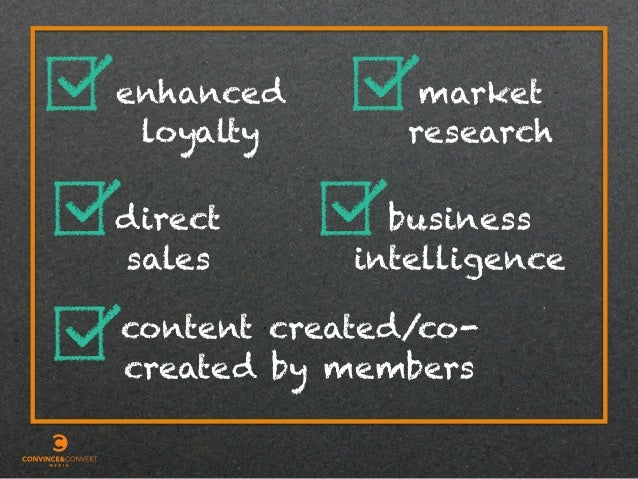 enhanced loyalty direct sales business intelligence market research content created/co- created by members