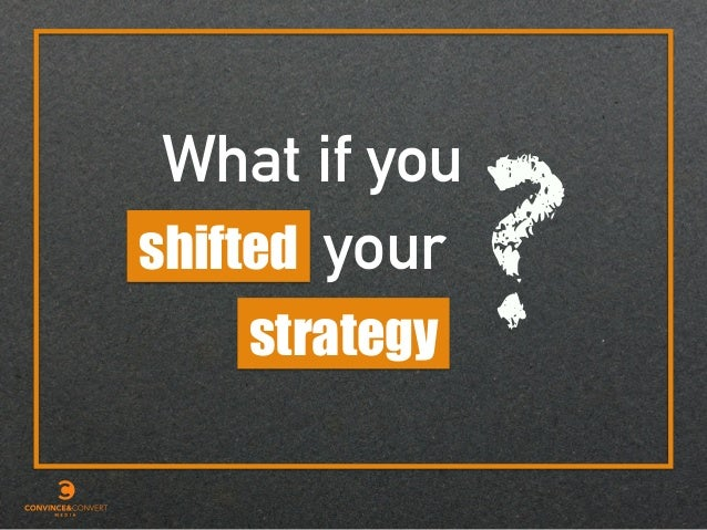 strategy shifted your What if you ?
