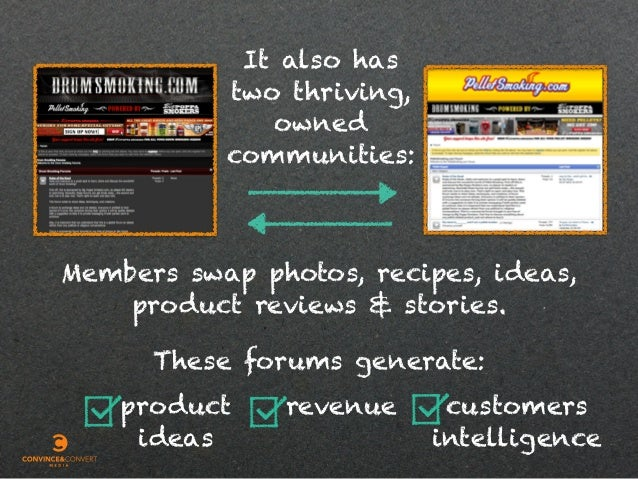 It also has two thriving, owned communities: Members swap photos, recipes, ideas, product reviews & stories. These forums ...