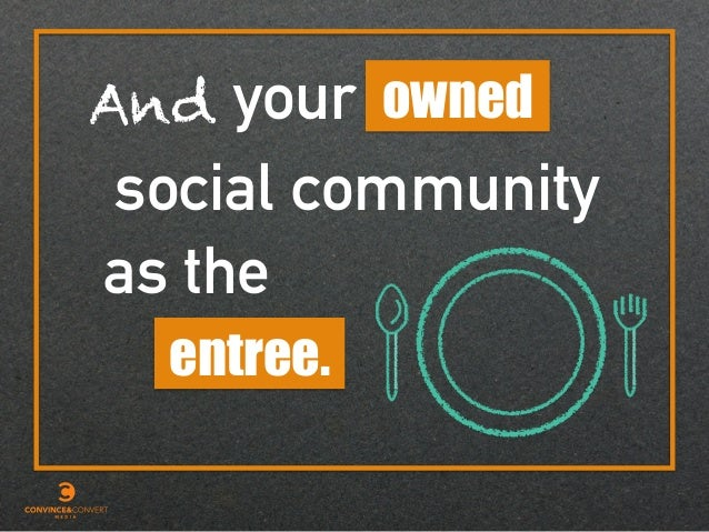 entree. owned social your as the And community