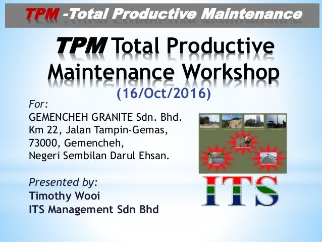 new style 339bf 54368 TPM Total Productive Maintenance for Quarry Plant(2)