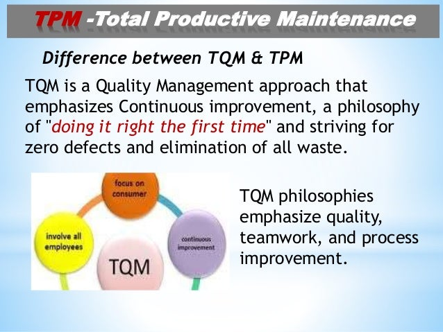 total productive maintanance