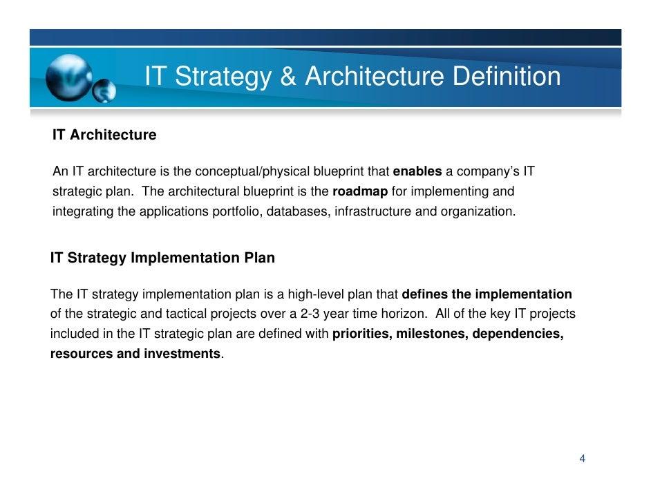 IT Strategy U0026 Architecture ...