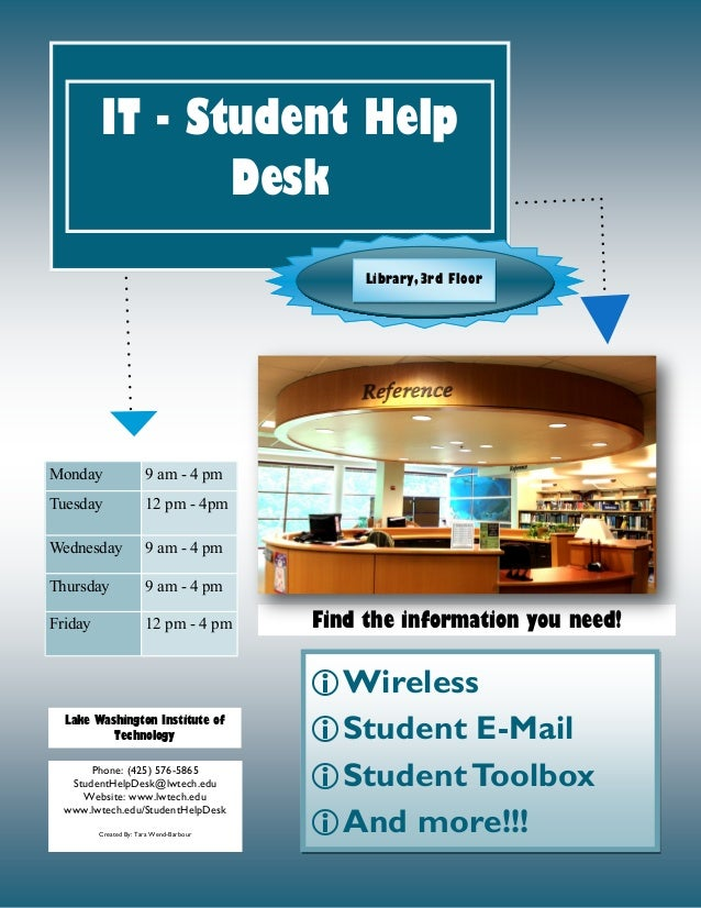 Captivating It Student Help Desk Flyer. Wireless Student E Mail StudentToolbox And  More!!! Find Nice Design