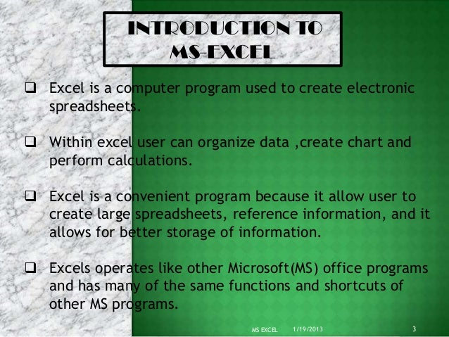 powerpoint presentation on ms excel