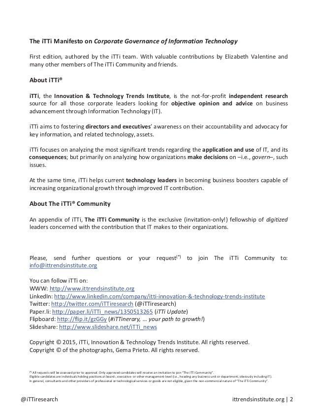 The iTTi Manifesto Slide 2