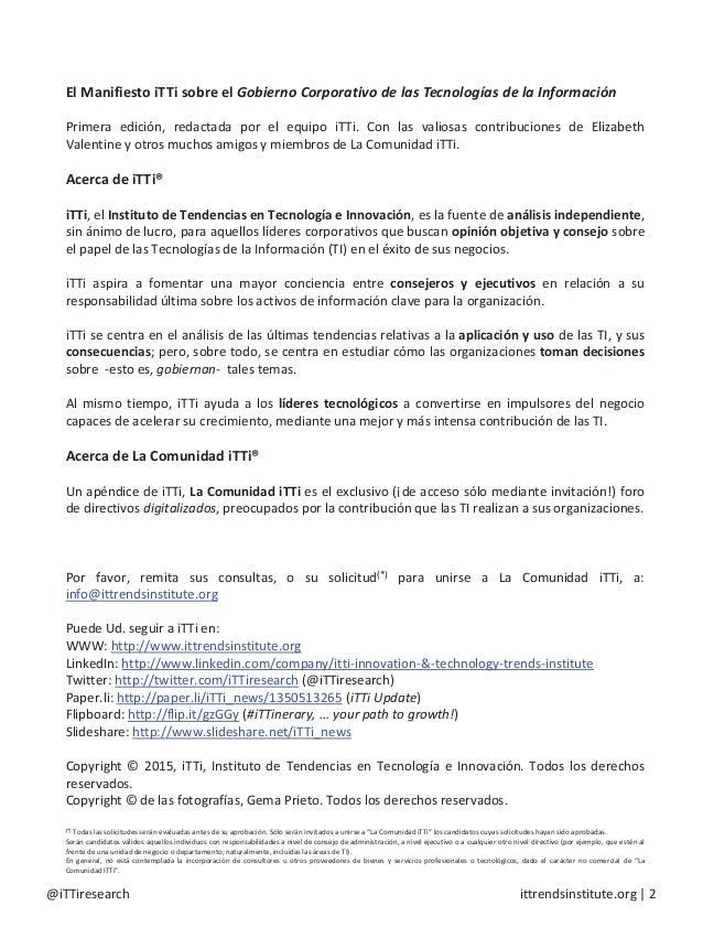 El Manifiesto iTTi Slide 2