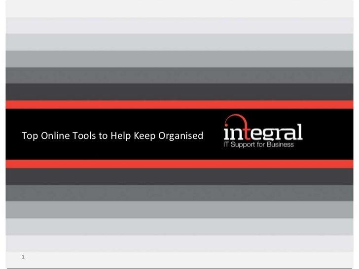 Top Online Tools to Help Keep Organised