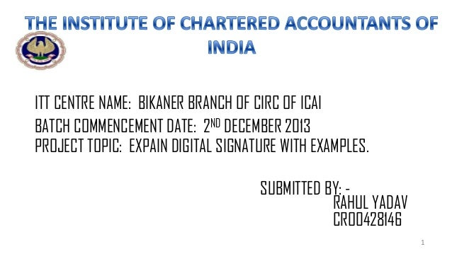 ITT CENTRE NAME: BIKANER BRANCH OF CIRC OF ICAI BATCH COMMENCEMENT DATE: 2ND DECEMBER 2013 PROJECT TOPIC: EXPAIN DIGITAL S...