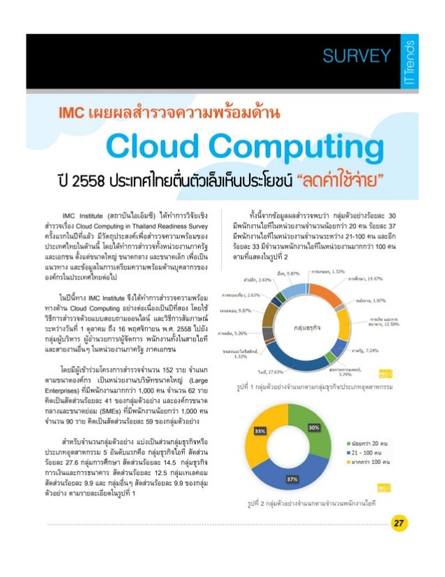 Cloud Computing in Thailand Readiness Survey 2015
