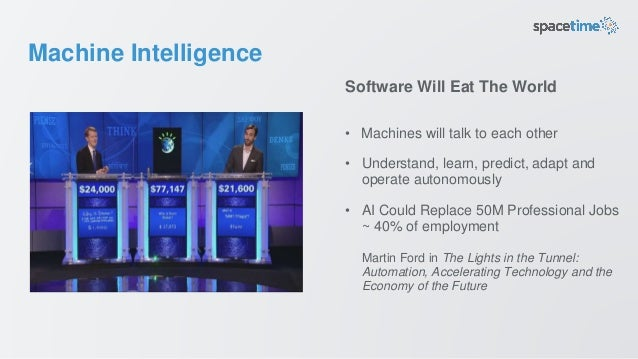 Machine Intelligence • Machines will talk to each other • Understand, learn, predict, adapt and operate autonomously • AI ...