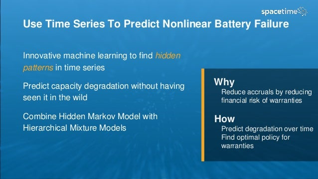 Use Time Series To Predict Nonlinear Battery Failure Innovative machine learning to find hidden patterns in time series Pr...