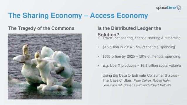 The Sharing Economy – Access Economy • Travel, car sharing, finance, staffing & streaming • $15 billion in 2014 ~ 5% of th...