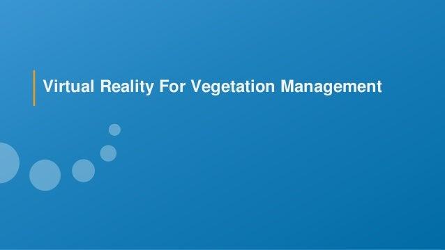 Virtual Reality For Vegetation Management