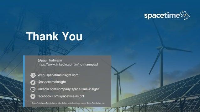 Web: spacetimeinsight.com @spacetimeinsght linkedin.com/company/space-time-insight facebook.com/spacetimeinsight SpaceTime...