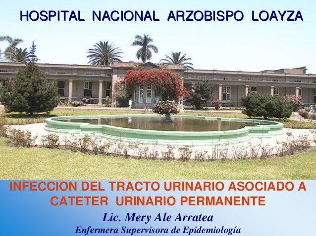 INFECCION DEL TRACTO URINARIO ASOCIADO A CATETER URINARIO PERMANENTE Lic. Mery Ale Arratea Enfermera Supervisora de Epidem...