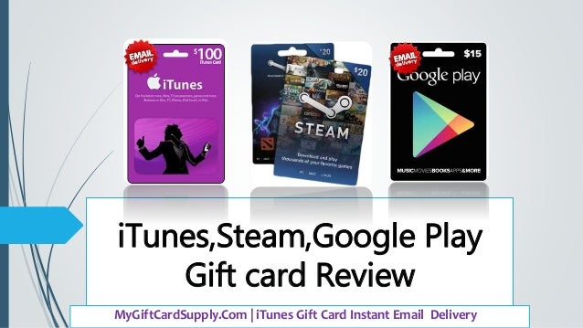 iTunes,Steam,Google Play Gift Card Reviews 2016