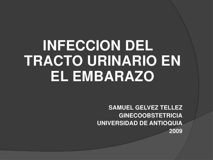 INFECCION DEL TRACTO URINARIO EN EL EMBARAZO<br />SAMUEL GELVEZ TELLEZ<br />GINECOOBSTETRICIA<br />UNIVERSIDAD DE ANTIOQUI...