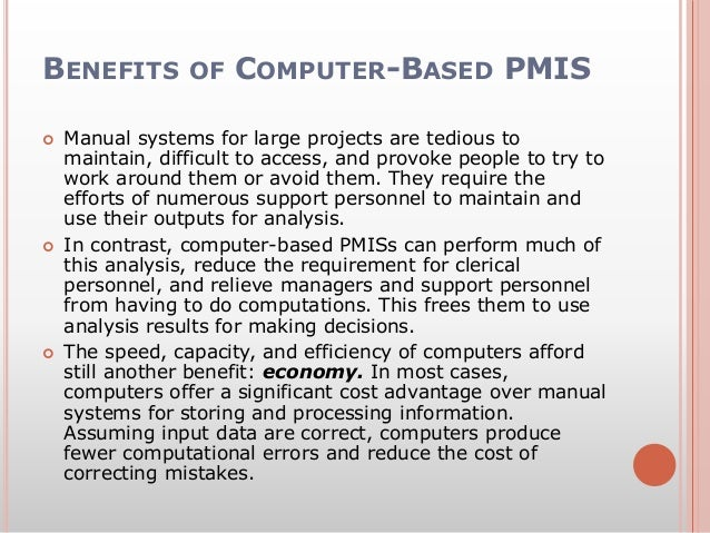 A discussion of the benefits of the computer