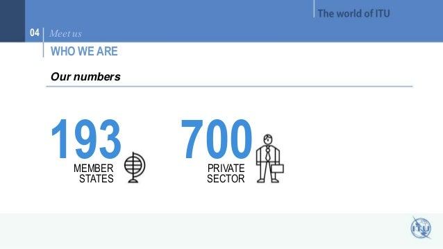 04 Meet us  WHO WE ARE  193 MEMBER  STATES  700 PRIVATE  SECTOR  Our numbers