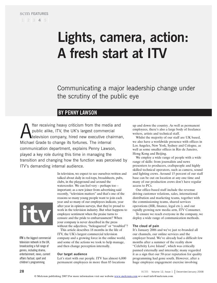 scm FEATURES  1 2 3 4 5                                     Lights, camera, action:                                 A fres...