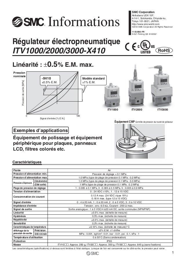 PressionRégulateur électropneumatiqueITV1000/2000/3000-X410InformationsÉquipement de polissage et équipementpériphérique p...