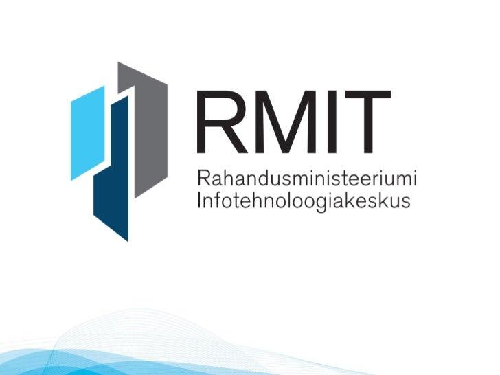 IT valdkonna konsolideerimine    Rahandusministeeriumi        valitsemisalas            Margus Noormaa            08.03.2012