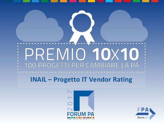 INAIL – Progetto IT Vendor Rating